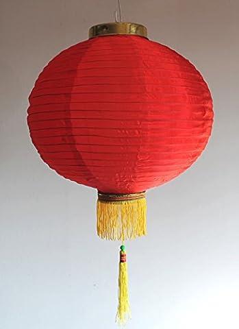 AAF Nommel ® Lampion 1 Stk. Nylonstoff rot rund Ø 35 cm, asiatisch traditionell, Nr. 135