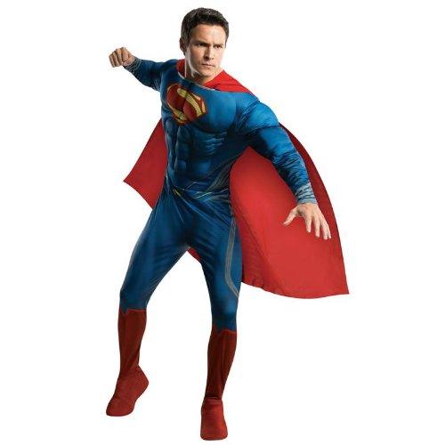 Herren Kostüm Superman Man of Steel Karneval Fasching Gr.L