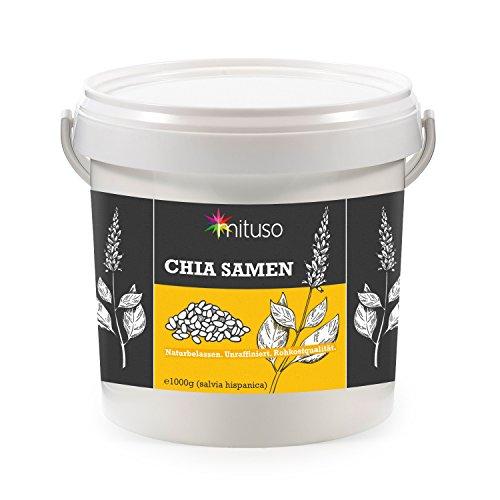 mituso  Chia Samen, 1er Pack (1 x 1000g) im praktischen Eimer