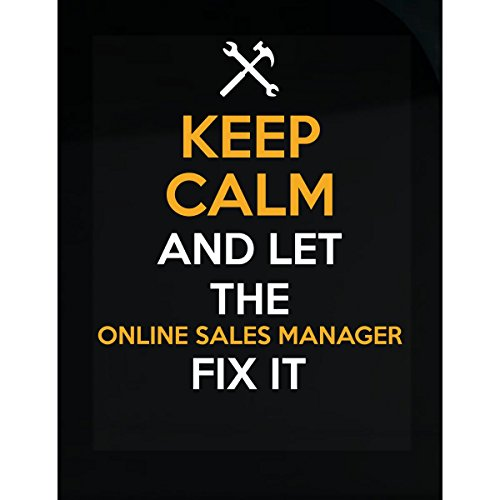 Inked Creative Aufkleber Keep Calm and Let The Online Sales Manager Fix It Set of 6-4x3 inch farblos (Aufkleber Online Kaufen)