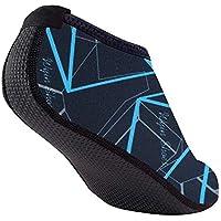 Haisiluo - Calcetines Deportivos para niños, para Surf, Playa, Snorkel, natación, Buceo, natación, Zapatos de Piel descalzada (Color: Azul Tibetano), Kids XL/30-31