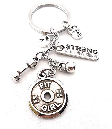 ab822dc726ba5 Keychain FIT GIRL Dumbbell Hex, Kettlebell, Motivation & Initial Letter  FitnessGift, Bodybuilding, Turnhallen-Geschenke,  Übungs-Geschenk,Crossfit,No ...