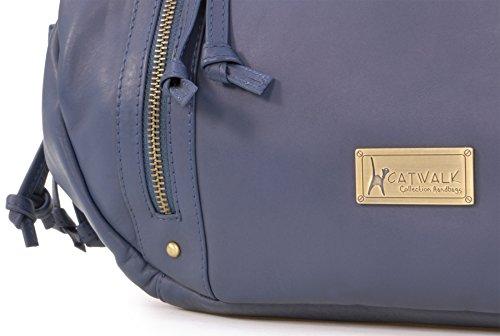 Del Descuento Al Por Mayor Borsa tote in pelle di Catwalk Collection Caz Blu Fotos Footlocker En Venta 0mnMnt