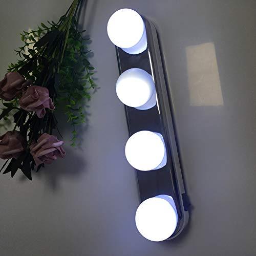 Hollywood Style Led Kosmetikspiegel Beleuchtet, Portable Aufhelllicht Led Spiegelleuchte Badlampe-4w Weißes Licht