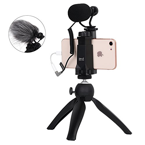 Comica CVM Vm10 K2 Filaker Mini Treppiede con Shotgun Video Microfono Video Rig per iPhone e Android