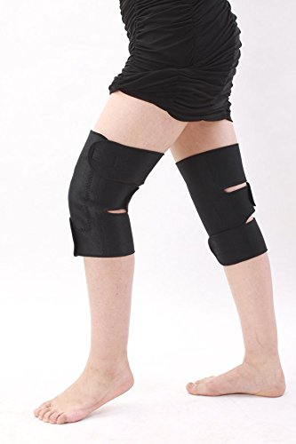 "NMT Knee Brace ~ Arthritis and Knee Pain ~ Physical Therapy ~ New Natural Tourmaline Remedy for Joint Pain and Tendonitis Relief ~ Adjustable black device for Men & Women ~ Size ""XX-Large."""