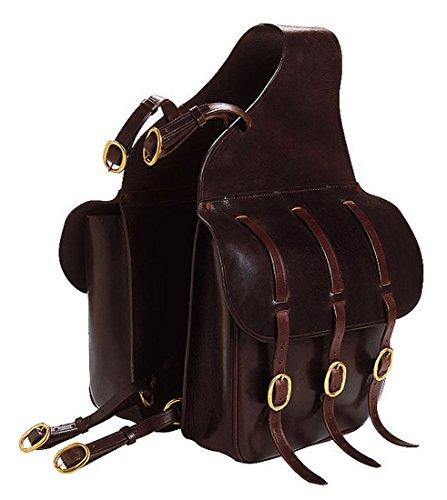 Amesbichler Doppelpacktasche Satteltasche für Pferde Braun