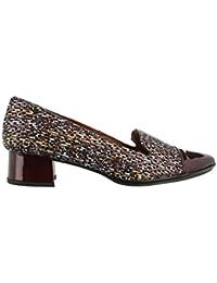 Hispanitas JIN2 HV25488NUEZ - Zapatos de vestir de cuero para mujer, color marrón, talla 40