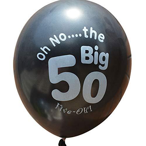 MingXiao Latexballon Latexballons Dekorationen Bedruckte Ballons Schöne 50. Muster 10 Stücke Festival Decor Home Decor