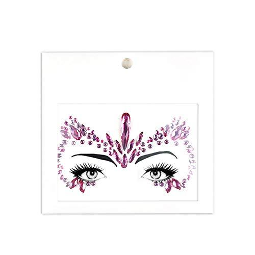 glitzer tattoo Diamanten aus Harz Strasssteinen zum Gesicht Stirn Augenbrauen Wangen für Hochzeiten Feste Weihnachtsfeier Maskerade oder Verrückte Nacht - Tattoos Juwelen