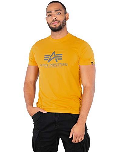 Alpha Industries Basic T-Shirt Gelb/Grau S