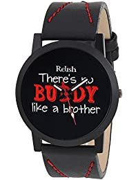 RELISH RE-S8083BB Black Slim Analog Watches For Boys And Mens