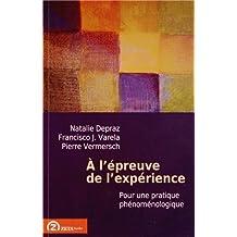 A L'epreuve De L'experience: Pour Une Pratique Phenomenologique