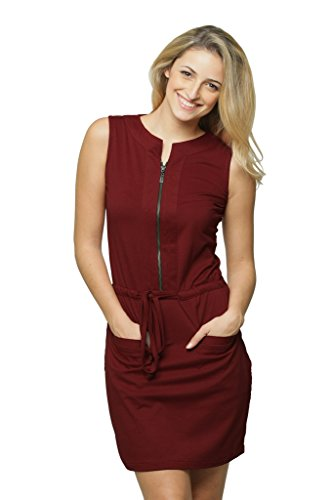 Miss Chase Women's Body Con Mini Dress (MCAW14D01-39-64-03_Maroon_Small)
