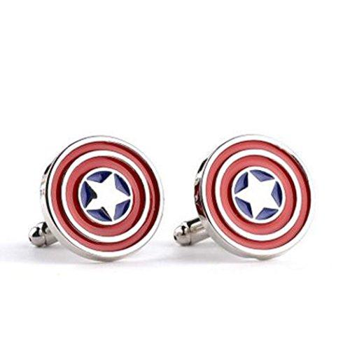 Manschettenknöpfe, Superhelden-Motiv , Captain America, onesize