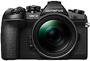 Olympus OM-D E-M1 Mark II Kit, Micro Four Thirds Systemkamera (20.4 Megapixel, 5-Achsen Bildstabilisator, elek