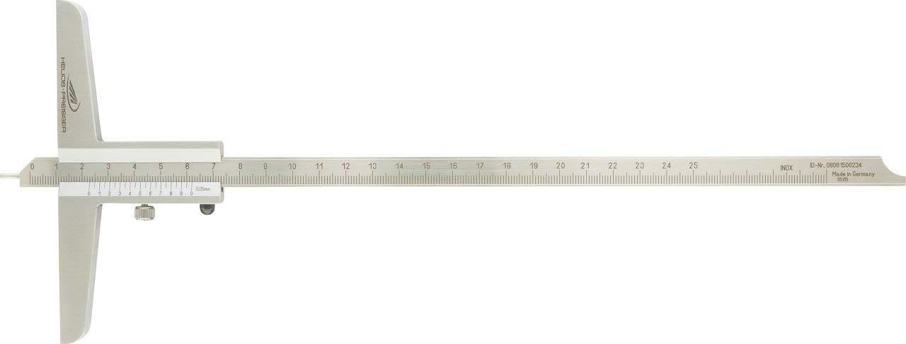 Helios Preisser 280501Profondeur à coulisse avec vis de verrouillage, plage de mesure: 0-80mm