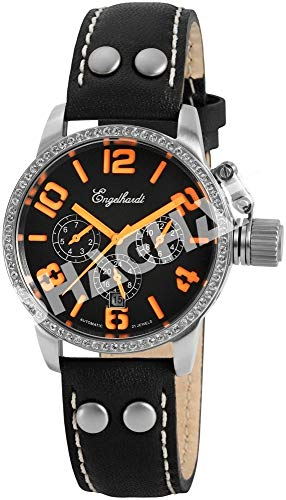Engelhardt Damen Analog Mechanik Uhr mit Leder Armband 387722229012