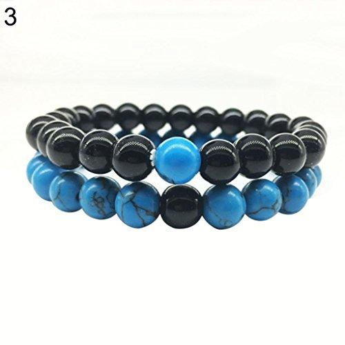 Beads Paare Distanzen Armband Männer Frauen Best Friend Schmuck (3#) (Teenage Kostüme Für Mädchen)