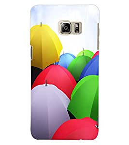 ColourCraft Colourful Umbrellas Design Back Case Cover for SAMSUNG GALAXY NOTE 5 EDGE