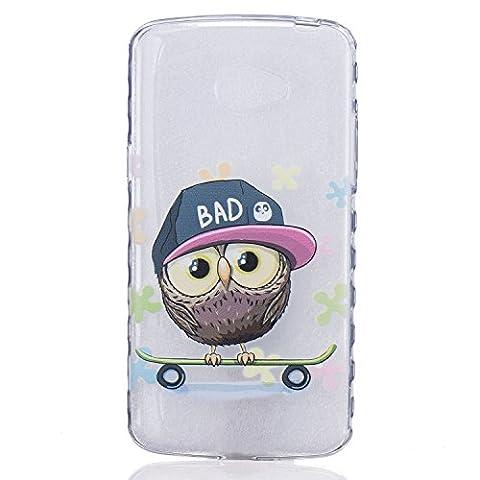 Etui LG K5, Coque LG K5, Cozy Hut® Hibou mignon de bande dessinée Pattern Etui Housse Téléphone Couverture de doux Plastique Coque pour LG K5 -