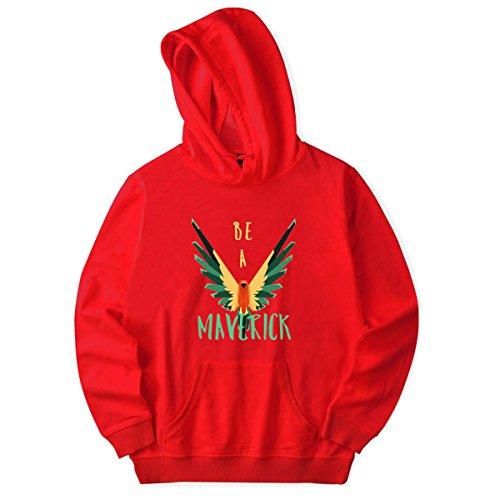 SIMYJOY Lovers logang paul pappagallo dorato Pullover Maverick Felpe con cappuccio Savage Felpa Top per Uomo Donna Adolescente rosso B