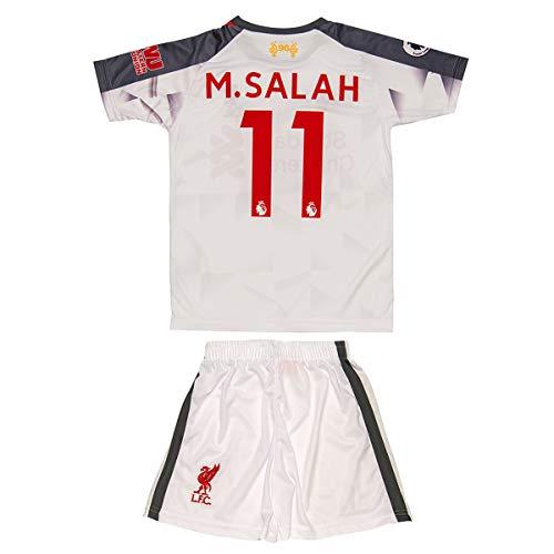 Liverpool M.Salah 2018 Heim/Auswärts Trikot und Shorts Kinder und Jugend Größe (176-13-14 Jahre, Auswärts)