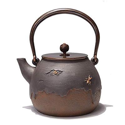 Q-HL Théières En fonte japonaises théière Théière en fonte, bouilloire à thé Tetsubin de style japonais, 1,4 L |Bouilloire en fonte pour garder le thé au chaud |Bouilloire en fer