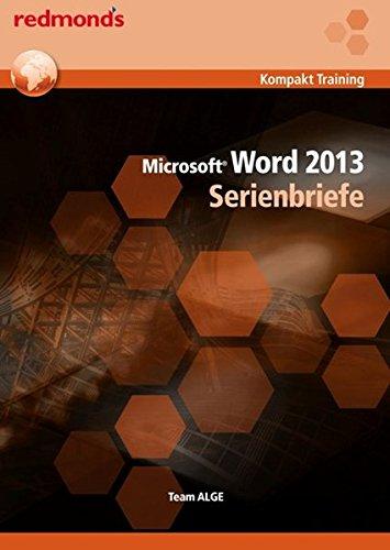 Word 2013 Serienbriefe: redmond's Kompakt Training