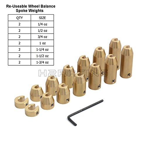 H2RACING Motorcycle 14 Pack Reusable Brass Wheel Spoke, used for sale  Delivered anywhere in UK