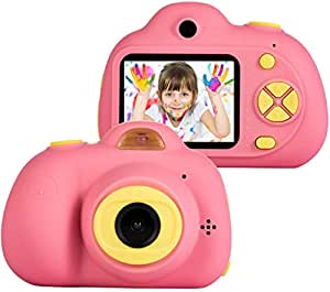 Toyshine Kids Camera 3MP 1080P HD Mini Children Camera with Selfie Timer (Without SD Card) (Pink)