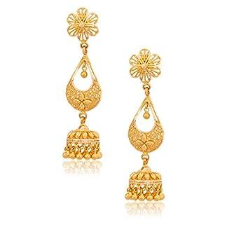 Senco Gold 22k (916) Yellow Gold Jhumki Earrings for Women
