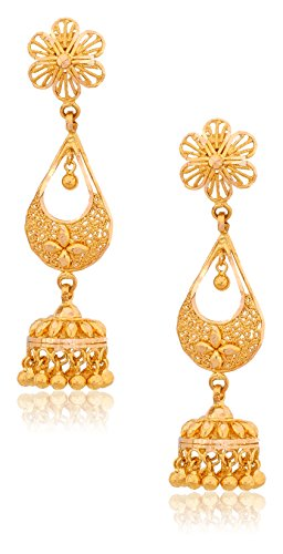 Senco Gold 22k Yellow Gold Jhumki Earrings