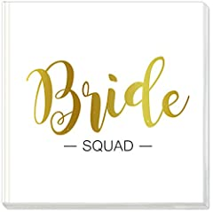 Idea Regalo - Sophies Kartenwelt - Libro degli Ospiti Bride Squad, con Stampa Dorata, Copertina Rigida, Formato 21 x 21 cm, 144 Pagine Bianche per Addio al Nubilato