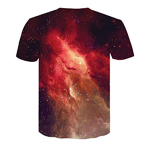 3D Männer T-Shirt Lustige Kurzarm Tops T Mode Herrenbekleidung, Cosmic Starry Sky 3XL - Lee T-shirt Hat