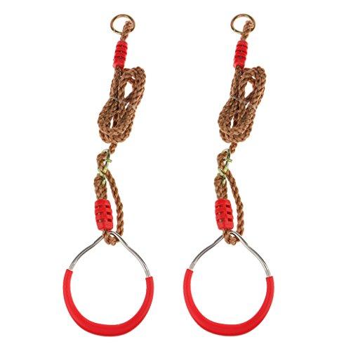 Preisvergleich Produktbild Eisen Krafttraining Ringe Verstellbaren Trägern Schnallen Set Fitness-Tool Red