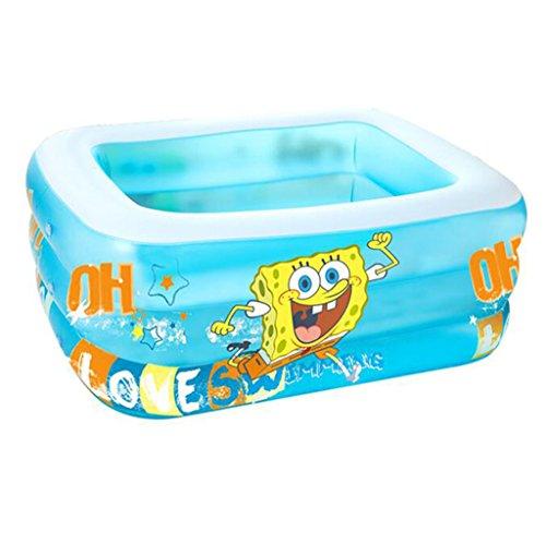 GQY Kinder Pool Kleinkind Kind große Kinder aufblasbare Schwimmbad Kunststoff Dickes Planschbecken PVC (Farbe : A)