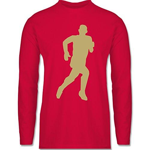 Laufsport - Laufen - Longsleeve / langärmeliges T-Shirt für Herren Rot