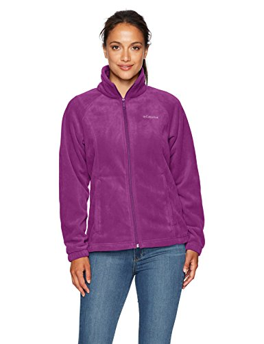 Columbia Women's Petite Benton Springs Full Zip, Dark Raspberry, PS -
