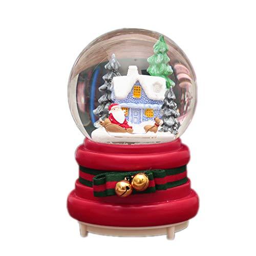 Kineca Weihnachtsschnee-Kugel-Spieluhr Schneemann-Kristallkugel Nachtlicht-Ausgang Schlafzimmer DIY Dekoration Weihnachten Neujahr Geschenke 4-108 Blue (Weihnachts-schlafzimmer Dekorationen)