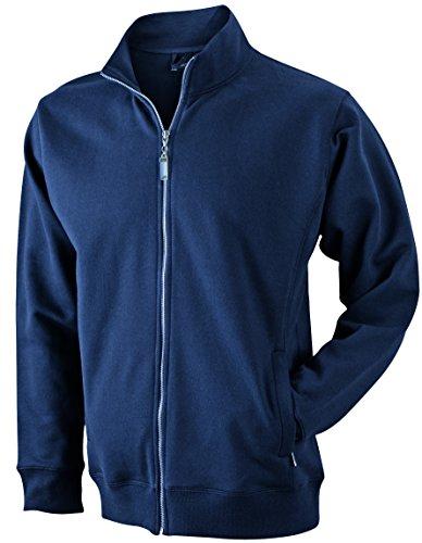 James & Nicholson Herren Jacket Sweatshirt Blau (Navy)