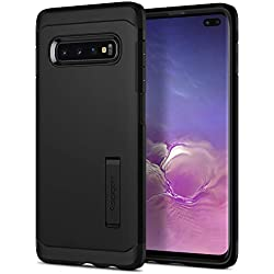 Spigen Coque Galaxy S10 Plus, Coque S10 Plus [Tough Armor] Protection US Military Grade/Anti Choc/Slim Dual Layer Protective Compatible avec Samsung Galaxy S10 Plus, S10+ [Noir]