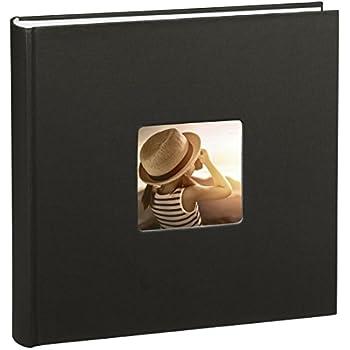 Hama Jumbo Album photo beaux-arts (30 x 30 cm, 100 pages, 50 feuilles, avec découpe pour insertion d'image) noir