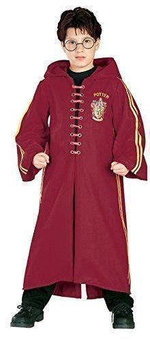 Jungen Mädchen Kinder Deluxe Harry Potter Hermine Grainger Quidditch Zauberermantel Büchertag Halloween Kostüm Kleid Outfit 3 - 10 jahre - Rot, Rot, 8-10 (Quidditch Robe Potter Harry)