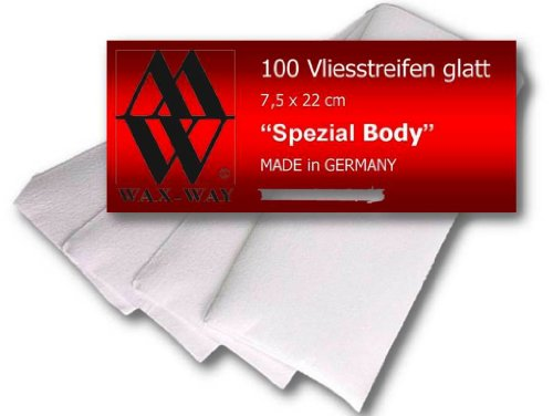Vliesstreifen Wax-Way weich und reißfest Waxing Strips Premium 100 Stück für Haarentfernung mit Warmwachs Sugaring