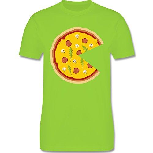 Partner-Look Pärchen Herren - Pizza Pärchenmotiv Teil 1 - Herren T-Shirt Rundhals Hellgrün
