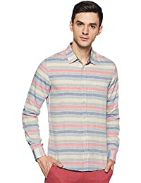 980d53c64f United Colors of Benetton Men's Striped Slim Fit Casual Shirt
