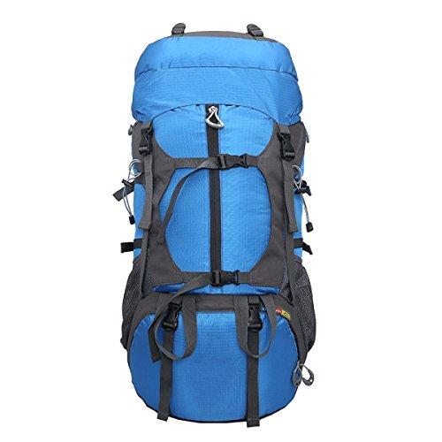 Yy.f 65L Attrezzature Utilizzate All'aperto Tattico Zaino Militare Esterno Attacco Borsa Sportiva Borse Zaino Campeggio Di Caccia Trekking Alpinismo Borse. Multicolore Blue