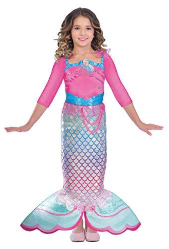 Enter-Deal-Berlin Kinderkostüm Meerjungfrau Mermaid Barbie Größe 116 cm -