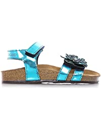 GRUNLAND - Sandalia azul con hebilla, Niña, Niñas